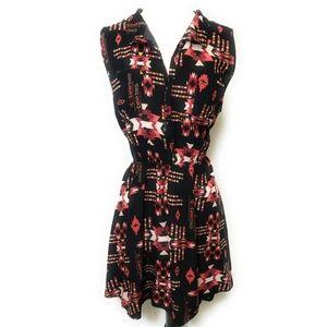 FULL TILT Southwestern Print Sleeveless Dress XL